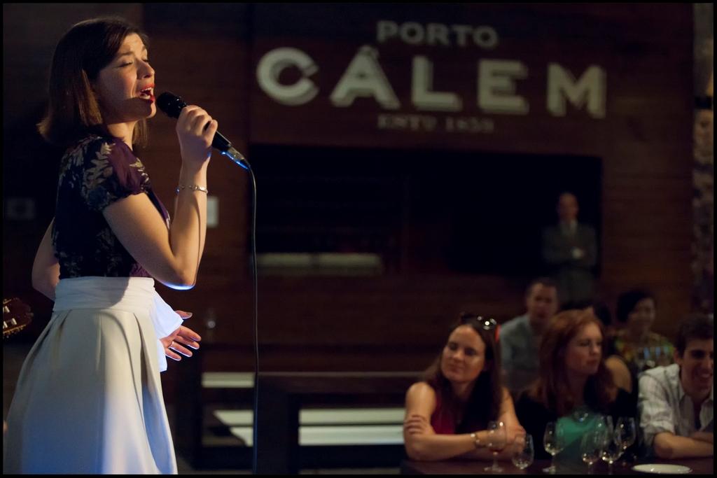 Fado singer at Calem port wine cellars in Vila Nova de Gaia