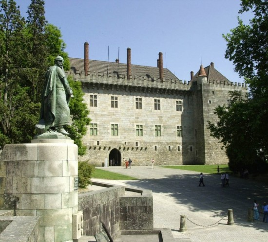 Ducal Palace in Guimarães, a World Heritage site in northern Portugal
